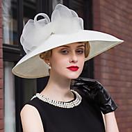 hør blonde hatte hovedstykke bryllup fest elegant klassisk feminin stil