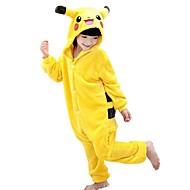 Kigurumi plišana pidžama Pika Pika Onesie pidžama Kostim Flis Bijela Cosplay Za Dječji Zivotinja Odjeća Za Apavanje Crtani film Noć