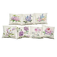 "Set of 7  Fashionable Vintage Cushion Cover Flower Pillow Case  Linen Home (18""*18"")"