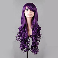 Synthetic Lolita 80cm Long Purple Wavy  Women's Costume Wigs Cosplay Full Wig