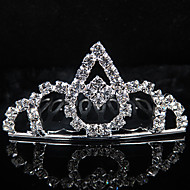 cheap Tiaras-Alloy Tiaras Headwear with Floral 1pc Wedding Special Occasion Headpiece