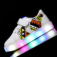Boys' Sneakers First Walkers Light Up Shoes Leatherette Spring Summer Athletic Casual Outdoor Walking LED Low HeelWhite Black Blushing