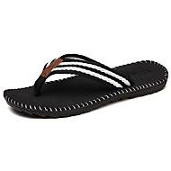 Pantofle a Žabky-Kůže mikrovlákno-lehké Soles-Pánské-Černá Šedá Červená Khaki-Outdoor Běžné-Plochá podrážka
