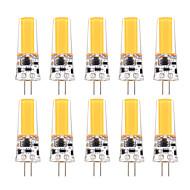 billige Bi-pin lamper med LED-YWXLIGHT® 10pcs 3W 200-300lm G4 LED-lamper med G-sokkel T 1 LED perler COB Mulighet for demping Dekorativ Varm hvit Kjølig hvit 12V 12-24V