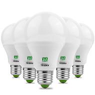 ewxlight® 7w e26 / e27 levou bulbos de globo 14 smd 5730 600-700 lm branco quente branco frio ativo 12 dc 12-24 v 5pcs