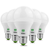 billige Globepærer med LED-YWXLIGHT® 5pcs 7W 600-700lm E26 / E27 LED-globepærer 14 LED perler SMD 5730 Dekorativ Varm hvit Kjølig hvit 12V 12-24V