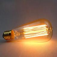 cheap -1pc 60W E26/E27 ST64 2300 K Incandescent Vintage Edison Light Bulb AC 220V AC 220-240V V