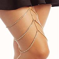 זירקונה מעוקבת / יהלום זעיר מתרסק שרשרת רגל נשים, אופנתי בגדי ריקוד נשים זהב / כסף תכשיטי גוף עבור Party / אירוע מיוחד / אבן נוצצת