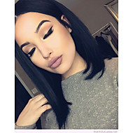Brazilian Virgin Human Hair 360 Lace Frontal Wigs Natural Color BOB Hairstyle 360 Lace Wig With Baby Hair