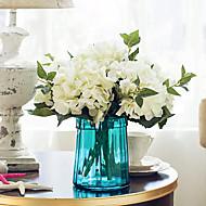 1 Gren Tørrede Blomster Hortensiaer Bordblomst Kunstige blomster