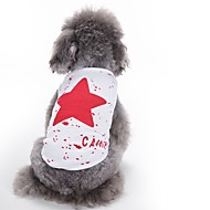 preiswerte Bekleidung & Accessoires für Hunde-Katze Hund Weste Hundekleidung Niedlich Lässig/Alltäglich Modisch Sterne Rot Blau Schwarz Kostüm Für Haustiere
