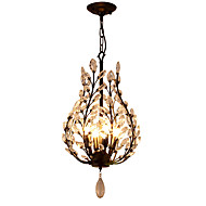 cheap Chandeliers-Rustic/Lodge Vintage Lantern Country Traditional/Classic Retro Modern/Contemporary Crystal Mini Style Chandelier Ambient Light For Living