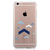 billiga Mobil cases & Skärmskydd-fodral Till Apple iPhone 7 Plus iPhone 7 Genomskinlig Mönster Skal Geometriska mönster Mjukt TPU för iPhone 7 Plus iPhone 7 iPhone 6s