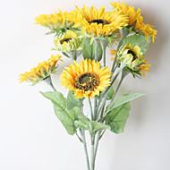 1 ブランチ ドライフラワー ヒナギク テーブルトップフラワー 人工花