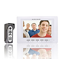 billige Dørtelefonssystem med video-mountainone 7 tommers video dør telefon døra intercom kit 1-kamera 1-monitor nattsyn