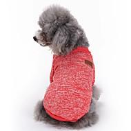 Kat Hund Frakker T-shirt Hundetøj Sødt Mode Sport Ensfarvet Rød Grøn Blå Lys pink Lyseblå Kostume For kæledyr