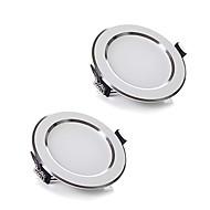 ZDM 2pcs / lot 5W trådløs ac 220V dimbare LED-downlights varm hvit / kul hvit ledet panle lys for hjemme belysning