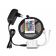 billige -Lyssæt 300 lysdioder RGB Fjernbetjening Chippable Dæmpbar Farveskiftende Selvklæbende Passer til Køretøjer Koblingsbar 100-240V
