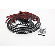 2x90cm2x120cm rgb színváltó LED RGB stirps alatt kocsiszekrény légkörben fények