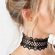 Žene Cvijet Čipka Choker oglice  -  Jedinstven dizajn Osnovni Moda Obala Crn Ogrlice Za Vjenčanje Party Special Occasion