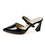 נשים-עקבים-PU-נוחות-שחור אפור ורוד-משרד ועבודה שמלה-עקב עבה