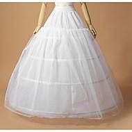 زفاف مناسبة خاصة زلات بوليستر تول Floor-length خط أ الانزلاقي ثوب حفله مع