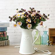 billige Kunstige blomster-1 Gren Tørrede Blomster Kurvplante Bordblomst Kunstige blomster