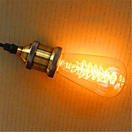 billige Glødelampe-1pc 40W E26 / E27 ST64 2300k Glødende Vintage Edison lyspære 220V 220-240V