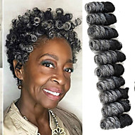 "Tresses Twist Tresse Natté Tresses au Crochet Bouncy Curl 10"" Cheveux 100 % Kanekalon Noir / Blond Fraise Noir / Medium Auburn Noir /"