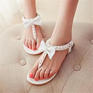ieftine Sandale fără Toc-Pentru femei Pantofi PU Vară Pantof cu Berete Sandale Toc Drept pentru Casual Alb Roz