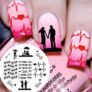 1 pcs Stempling plade Skabelon Moderigtigt Design / Valentins Negle kunst Manicure Pedicure Chic & Moderne Daglig / Stempling Plate / Stål