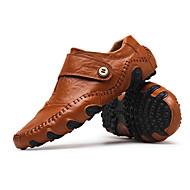 baratos Sapatos Masculinos-Homens Sapatos de Condução Couro Outono / Inverno Mocassins e Slip-Ons Preto / Marron