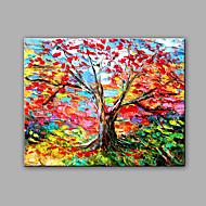 baratos -Pintados à mão Abstrato Paisagem Horizontal,Moderno 1 Painel Tela Pintura a Óleo For Decoração para casa