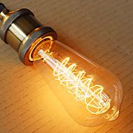 billige Glødelampe-1pc 60W E26/E27 ST64 2300 K AC 220V AC 220-240V V