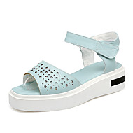 baratos Sapatos de Tamanho Pequeno-Mulheres Sapatos Courino Primavera / Verão Conforto / Chanel / D'Orsay Sandálias Creepers Peep Toe / Dedo Aberto Vazados / Pregueado /