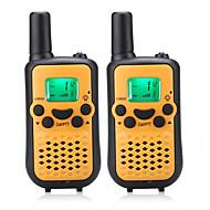 lett å snakke 446mhz walkie talkie for barn (5 farger å velge) utgang 0.5W 8 kanaler opp til 3km-5km aaa alkalisk batteri