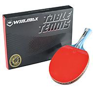 tanie Tenis stołowy-Ping Pang/Rakiety tenis stołowy Drewniany Gumowy 5 gwiazdek Długi uchwyt Odwrócone Pryszcze 1 Rakieta -