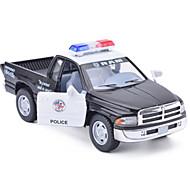 Fahrzeuge aus Druckguss Aufziehbare Fahrzeuge Spielzeug-Autos Lastwagen Polizeiauto Simulation Auto Metalllegierung Metal Unisex Geschenk