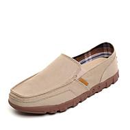 baratos Sapatos Masculinos-Homens Jeans Primavera / Verão / Outono Conforto Mocassins e Slip-Ons Bege / Cinzento / Azul