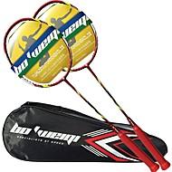 Badmintonschläger Langlebig Stabilität Carbon Faser Ein Paar × 2 für