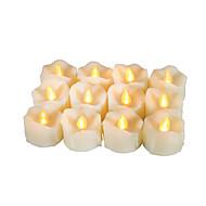 タイマーで作動する12個のプレミアム無炎の蝋燭のキャンドルは、電池駆動のLEDキャンドルで長時間のバッテリー寿命200時間のバッテリーを搭載しています。