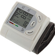 1PC Domestic Convenient Wrist Blood Pressure Monitor Manual LCD Display Time Display Rechargeable Power Plastic