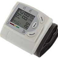 olcso -# csukló Vérnyomásmérő Kézi LCD képernyő Idő kijelzése Újratölthető Plastic