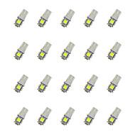 20pcs t10 5 * 5050 smd led lampje wit licht dc12v