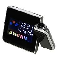 Eletrônico digital lcd secretária despertador timer projeção projetor termômetro umidade medidor estação meteorológica snooze calendário