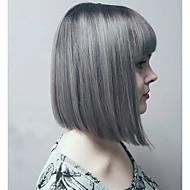 Парики из искусственных волос Волнистый Стиль Без шапочки-основы Парик Серый Серый Искусственные волосы Серый Парик монолитным парики