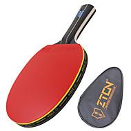 baratos Tenis de Mesa-ZTON Ping Pang/Tabela raquetes de tênis Madeira Cabo Comprido Espinhas 1 Bolsa para Tênis de Mesa 1 Raquete -