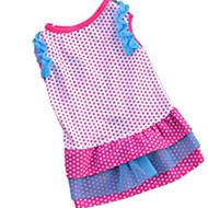 Dog Dress Dog Clothes Polka Dot Black Rose Pink Blue Cotton Costume For Summer Men's Women's Casual / Daily Fashion