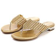 baratos Sapatos Femininos-Mulheres Sapatos Microfibra Verão / Outono Conforto / Inovador / Chanel Sandálias Caminhada Sem Salto / Salto Agulha Dedo Aberto