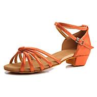 baratos Sapatilhas de Dança-Mulheres Sapatos de Dança Latina Courino Têni Salto Baixo Personalizável Sapatos de Dança Cinzento Claro / Vermelho / Azul / Interior